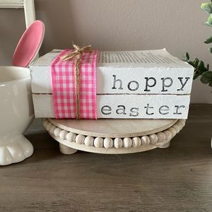 Easter Decor Farmhouse Stamped Books